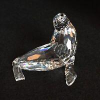 RARE Retired Swarovski Crystal Sea Lion Mother 679592 Mint Boxed Aquatic Worlds