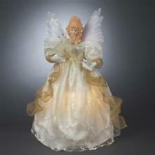 Kurt S. Adler Kurt Adler 14 Fiber Optic Ivory & Gold Animated Angel Treetop