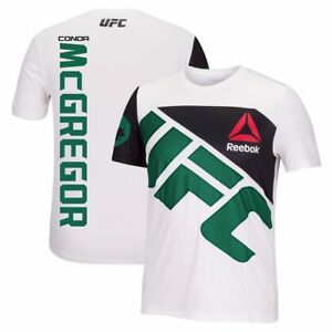 Conor McGregor Reebok UFC Fight Kit Official (White/Green) Walkout Jersey Men's