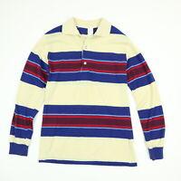 Vtg 80s Jantzen Polo Shirt Mens SMALL Thin Knit Surfer Striped Grunge Skate USA