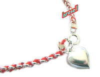 KABBALAH RED STRING 925 STERLING SILVER BRACELET WITH HEART PENDANT - Protection