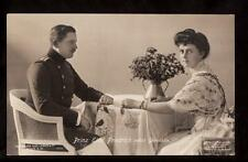 1908 real photo prince Eitel Friedrich & Gemahlin royalty germany postcard