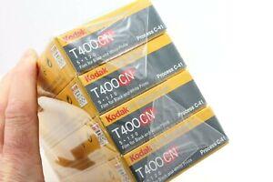 120 film, unopened brick 20 rolls of Kodak Pro T400CN, B+W, expired 09/2005