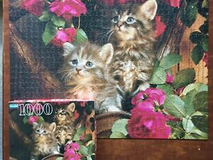 "Guild ""Kittens"" 1000 Piece Jigsaw Puzzle No. 04710-17 Hasbro 20.125"" x 27.5"""