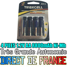 4 Piles AA 3600mAh Rechargeable Mignon LR6 1.2V Ni-Mh  TRES PUISSANT - DE FRANCE