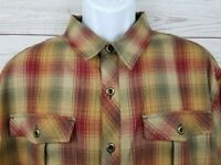 SHERPA Mens Button Front Plaid Shirt w/ Pockets Size XL