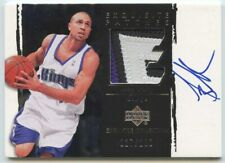 Mike Bibby 2003 04 UD Exquisite Collection Game-Used 3 Color Patch Auto 27/100