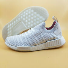 518f792aadc9e Adidas NMD R1 STLT Primeknit Boost SIZE 9 Men Running Shoes Cloud White  170