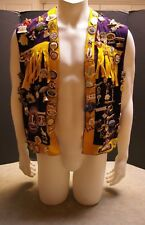 RARE 1970'S NEPEAN LIONS CLUB INTERNATIONAL VICE PRESIDENT VEST WITH 124 PINS