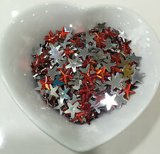 20 Strass Etoile Rouge 10mm a Coller Scrapbooking, Embelissement, decoration