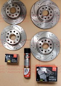 FITS VAUXHALL INSIGNIA 2.0 CDTI FRONT & REAR DRILLED GROOVED DISCS APEC PADS