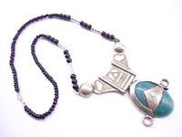Africa Tribal Berber Handmade Tuareg Necklace Bead Silver Pendant Ethnic Jewelry