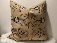 """John Lewis 18"""" Gold Luxury Cushion Cover  gold black cream embroidery 45cm"""
