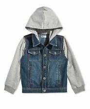 Epic Threads Boys Blue Wash Jean Jacket Hoodie