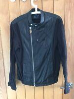 Armani Mens Jacket Large EU 48 Half Leather