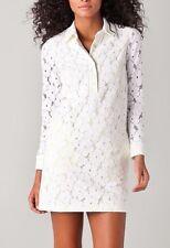DVF Diane Von Furstenberg sz 4 Leeandra Lace Floral Shift Dress Ivory & Lime