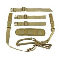 Tactical 2 Point Rifle Sling Easy Length Adjuster with Shoulder Fits Any Gun