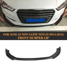 Carbon Fiber A3 Front Bumper Lip Spoiler Factory For Audi A3 NON S-LINE NON-S3