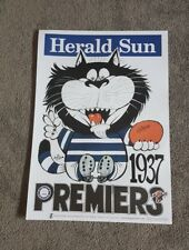 1937 GEELONG CATS PREMIERSHIP WEG POSTER LIMITED EDITION OUT OF 1000