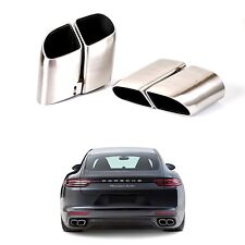 For Porsche Panamera Turbo 970 Style Exhaust Tips Stainless Steel 2014 2016