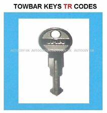 WITTER TOWBAR  KEYS CUT TO CODE NUMBER ( TR01 TO TR10 ) CODES AVAILABLE FREEPOST