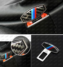 3 Color Carbon Fiber Seat Belt Buckle Alarm Stopper Null Insert For Mini Coope
