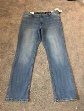 M&s Ladies Lt Indigo Straight Leg Jeans Size 16 Long Bnwt Free Sameday Postage