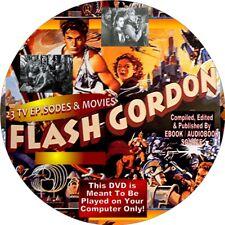 FLASH GORDON - 23 MOVIES & EPISODES - ON 1 DISK - VINTAGE SERIES - ON COMPUTER