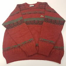 Lacoste Mens Vintage Jumper 5 LARGE Wool Alpaca Acrylic Pullover Sweater Knit