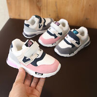 Unisex Toddler Baby Kid Boy Girl Winter Casual Sneakers Mesh Running Shoes FE