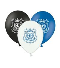 """Happy Birthday - Police Badge - 12"""" Printed Latex Assorted Balloons Pack of 15"""