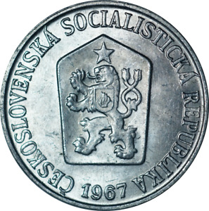 Czechoslovakia 5 Haleru Coins mixed dates EF - BU Thematics Animal Lion