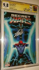 SECRET WARS #1 CGC SS  STAN LEE AUTO 2015 SIGNED NEW STAN LEE LABEL - RARE-