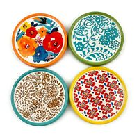 PIONEER WOMAN Flea Market Ceramic Set Of 4 Floral Drink Coasters