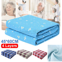 Washable Waterproof Incontinence Bed Pad Elderly Kids Mattress Protector Pad