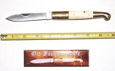 Bone Handle Large Old Fashion Pocket Knife NEW