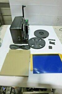 Keystone 2500 Zoom 8mm Dual Speed Reel-Reel Movie Film Projector w/ Extras