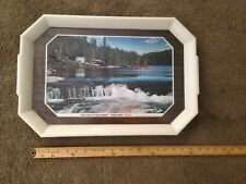 Vintage Hamms Beer Serving Tray  Canoe, Waterfall & Canvas Tent