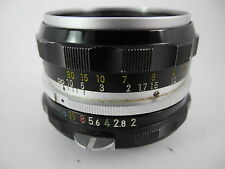 NIKON NIKKOR 50/2 NON AI CHROME FRONT RING EARLY HAS SOME MARKS ON BARREL