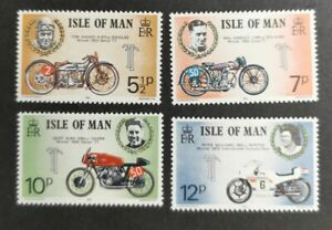 Isle of Man 1975 Motorcycle Race set  MUH B32