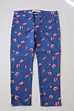 Abercrombie & Fitch Women Super Skinny Blue Floral Ankle Jeans -NwT- 30 10