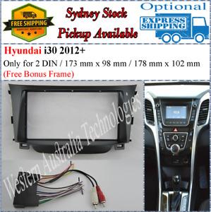 Harness + Fascia facia Fits Hyundai i30 i-30 2012+ Double Two 2 DIN Dash Kit