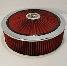 Spectre 14 x 4 Red Extra Flow Air Cleaner - Chevy-Ford-Hot Rod