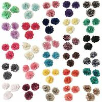 "20 pieces GRAB BAG 2"" satin & tulle mesh flowers / DIY headband"