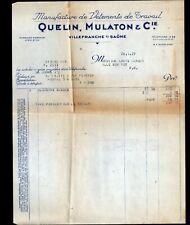 """VILLEFRANCHE-sur-SAONE (69) USINE de VETEMENTS de TRAVAIL """"QUELIN , MULATON"""""""