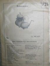 * ILO MG 125E  Einbaumotor Datenblatt Typenblatt  original