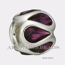 Authentic Chamilia Sterling Silver Embrace Purple Bead 2116-0937