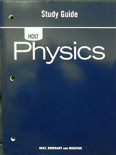 Physics : Study Guide Workbook Holt (Paperback) Brand New
