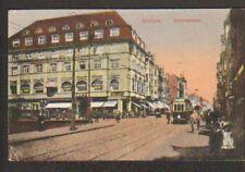 BOCHUM (ALLEMAGNE) TRAMWAY à BAHNHOFSTRASSE en 1923