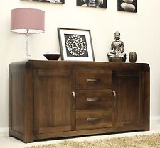 Shiro solid walnut dark wood furniture large living dining room sideboard
